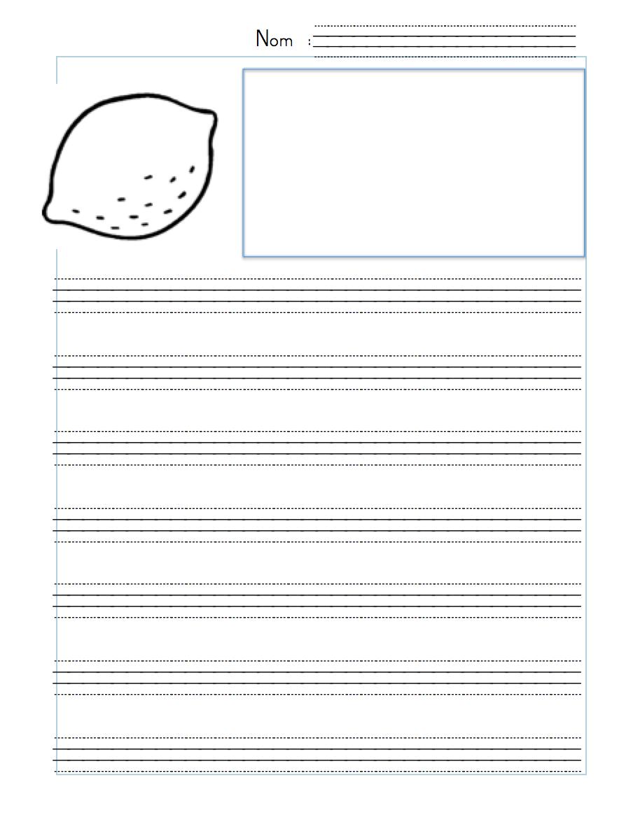 Fichiers Word ou PDF: des gabarits de feuilles pour écrire ...